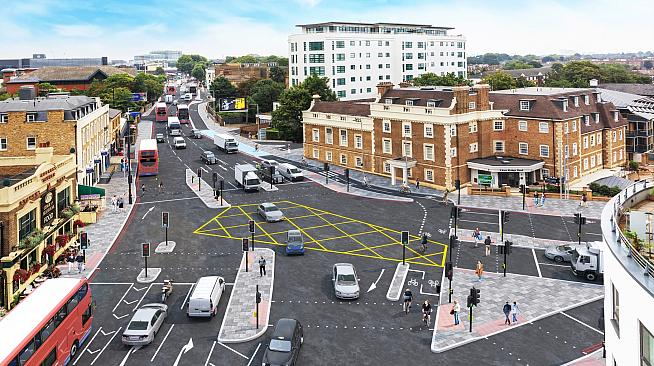 CGI rendering of proposed improvements to Kew Bridge. Image: TfL
