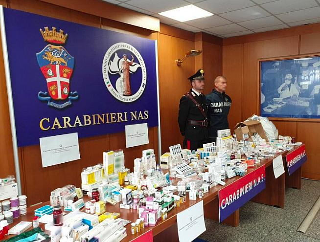 Some of the illegal steroids and drugs seized by Italian police