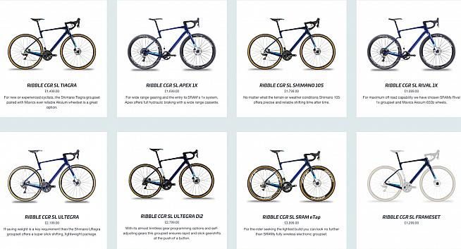 Take your pick! Ribble offer the CGR SL in seven builds. And that's just the carbon model...
