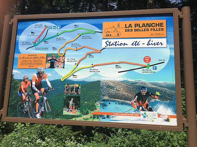 No mention of beech trees here... La Planche des Belles Filles featured in this year's Tour de France.