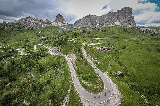 Passo Giau was among the climbs on this year's Haute Route Dolomites. Match the elevation to win a trip next year.
