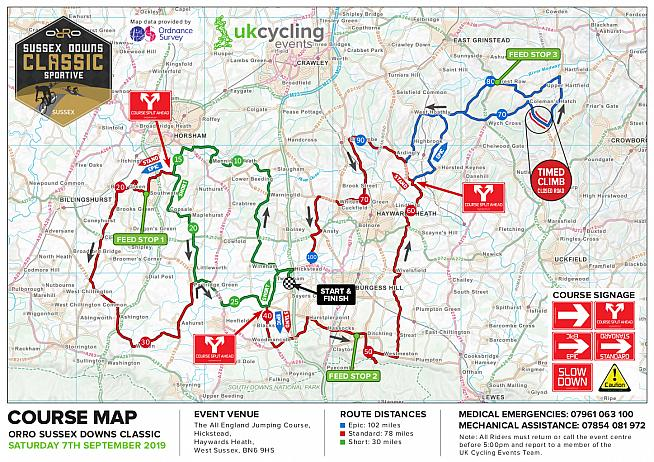 The Orro Sussex Downs Classic takes in a leg-busting selection of the two counties' lumpiest lanes.