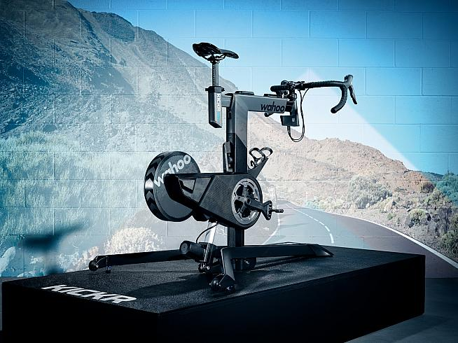 The new KICKR BIKE integrates with virtual training apps for a new level of realism in indoor cycling.