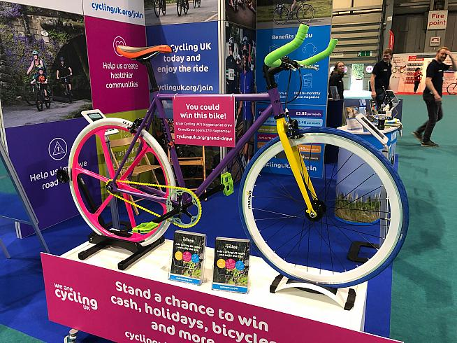 Last but not least - winner of most colourful bike on show  the Mango fixed gear.