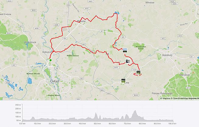 The Doppio route as  captured on Strava.