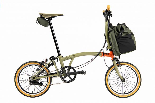 The Brompton Explore is a 6-speed edition that includes luggage and spares to set you up for adventure.