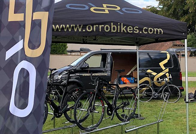 Ride sponsors Orro had a few bikes on show.