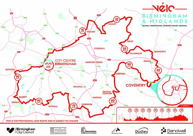 Entries for Velo Birmingham & Midlands 2020 are now on general sale.