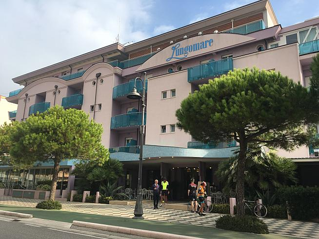 The Hotel Lungomare in Cesenatico welcomes cyclists from novices to top pro teams.