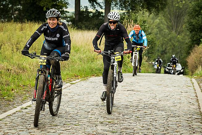 Riders on this year's inaugural offroad edition of Flanders.