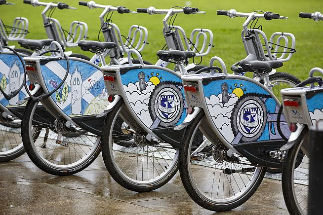 Three high schools in Stirling are the first in the UK to run a free bike share scheme for pupils.