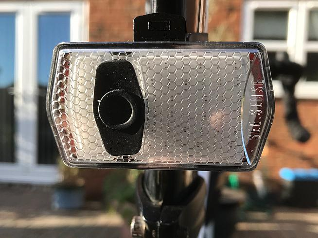 The ACE lights adjust brightness and flash pattern depending on your speed and the proximity of traffic.