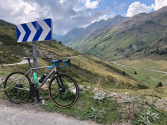 Enjoying the view on the Col du Tourmalet.