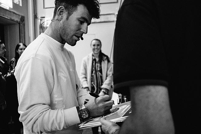 The ever popular 'Manx Missile' Mark Cavendish mingling with visitors. Sean Hardy  Rouleur Classic LDN