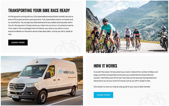 Give your bike - and yourself - a few days rest before your next big European sportive with Velotransfer.