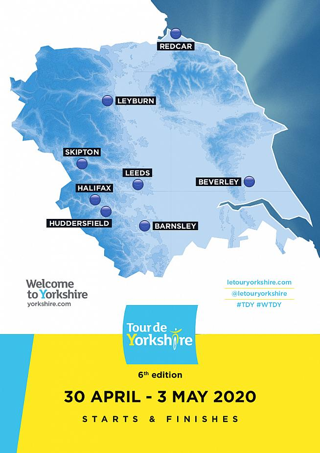 The eight host locations for the 2020 Tour de Yorkshire have been revealed.
