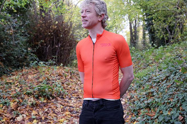 We set Eoghan free in the woods to test Stolen Goat's cycling kit. All photos by Peter Levenspiel.