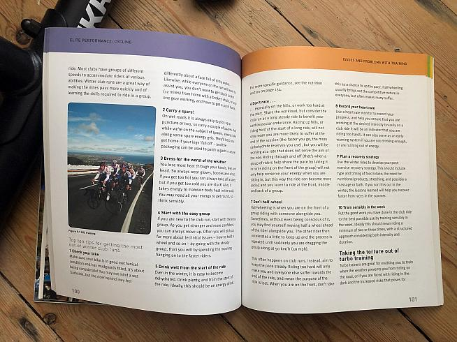 It's not all about the turbo trainer - the book includes tips for new club cyclists too.
