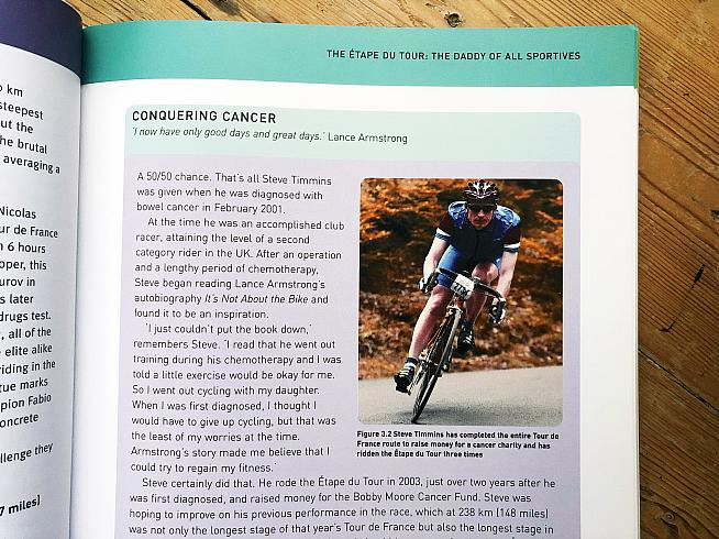 The book refers to well-known sportives throughout - with a focus on the Etape du Tour.