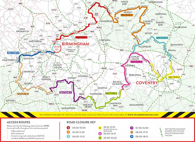 Rolling road closures will affect traffic on the day - see the Velo website for details.