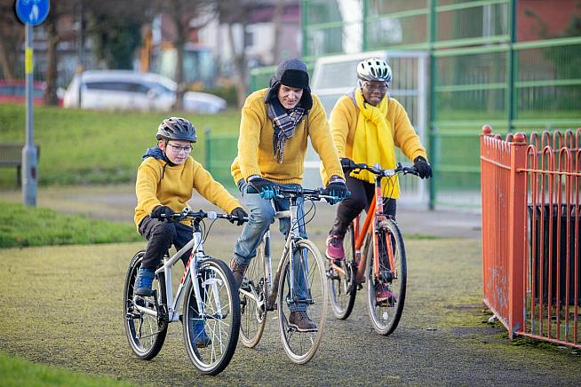 Martin Williams Joy Anibaba and Declan Nangle were awarded the Real Yellow Jersey by Cycling UK.