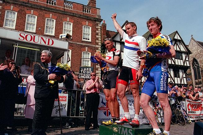 Is that Matt Stephens? The ex-GCN presenter on the Lincoln podium in 2001. Photo: Brian Townsley