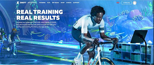 Zwift turns indoor training into an immersive gaming experience.
