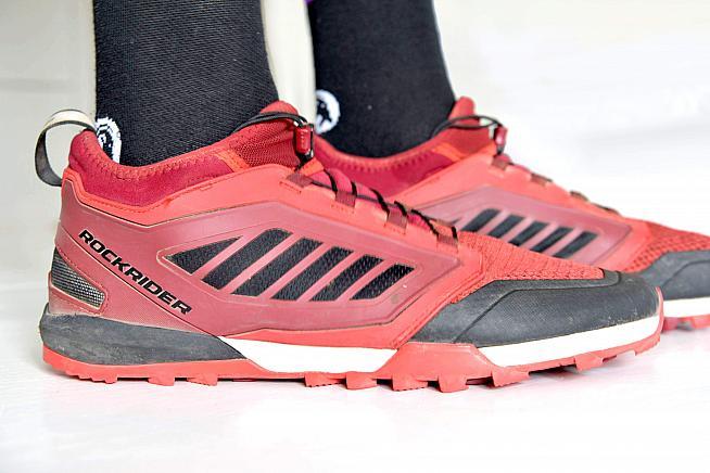 The Rockrider ST500 from Decathlon is a versatile MTB touring shoe. Photos: Peter Levenspiel