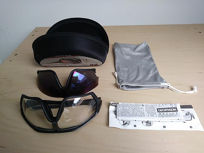 The glasses come with two lenses and a protective case.
