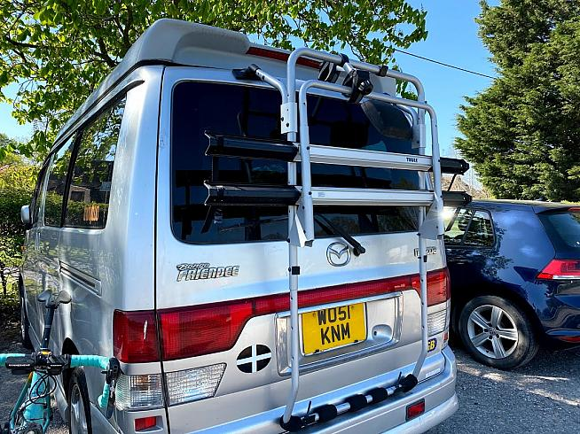 The Thule BackPac 2 can carry up to four bikes on the back of a van or MPV.