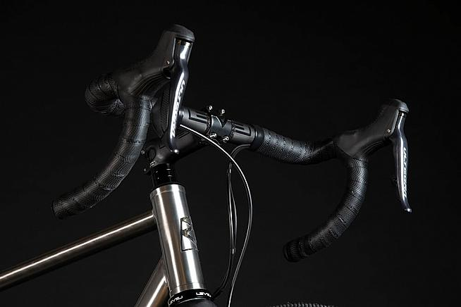 Dropped seatstays and a beefed up headtube are claimed to enhance ride quality.