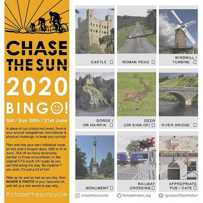 Click the image to download your own Chase The Sun Bingo card.