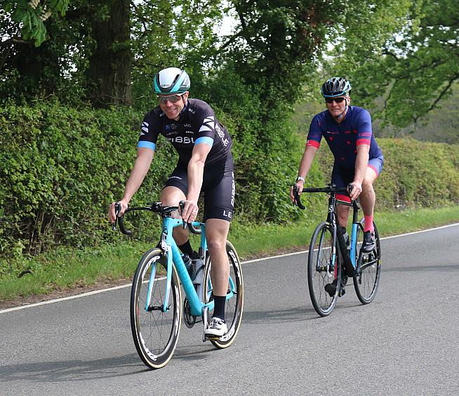Ribble CEO Andy Smallwood with Geoff Thomas.
