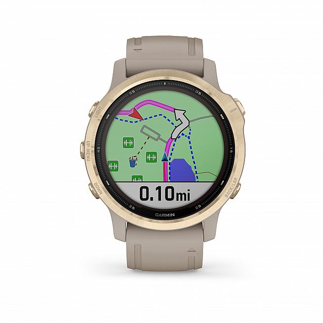 The new Garmin Fenix 6S Solar edition boasts a hugely extended battery life - ideal for cycling trips.