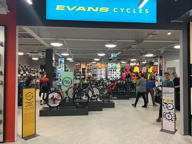 The new Evans Cycles bike shop in Birmingham.