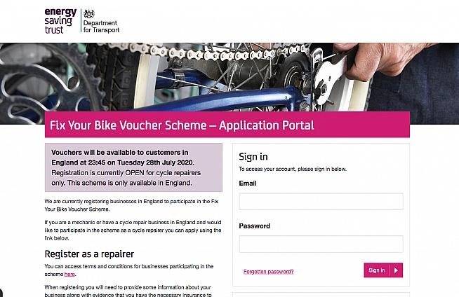 The government's bike repair voucher scheme launches today.