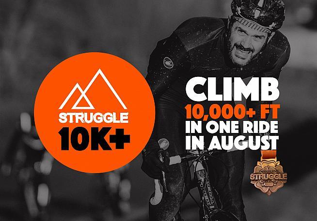 Rack up 10 000 feet of climbing and help Struggle shift their medal surplus.