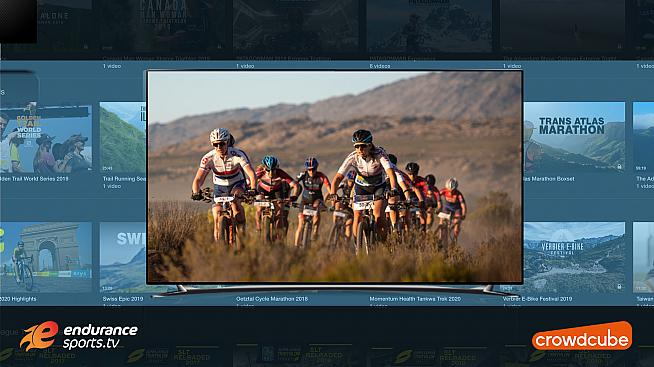 Endurance sports TV investor rewards include entry to events and training camps.