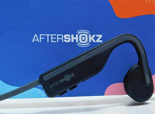 The new OpenMove headphones from AfterShokz use bone conduction technology to keep your ears free. Photo: Rosie Beyfus