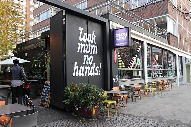 Look Mum No Hands! is a well-known coffee stop for London cyclists. Photo: Alex Davis