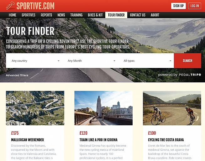 Search from 100s of cycling trips with Tour Finder on Sportive.com.