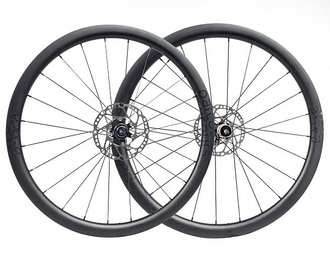 The lightest wheels in our roundup are the  Alta 650B from Parcours.