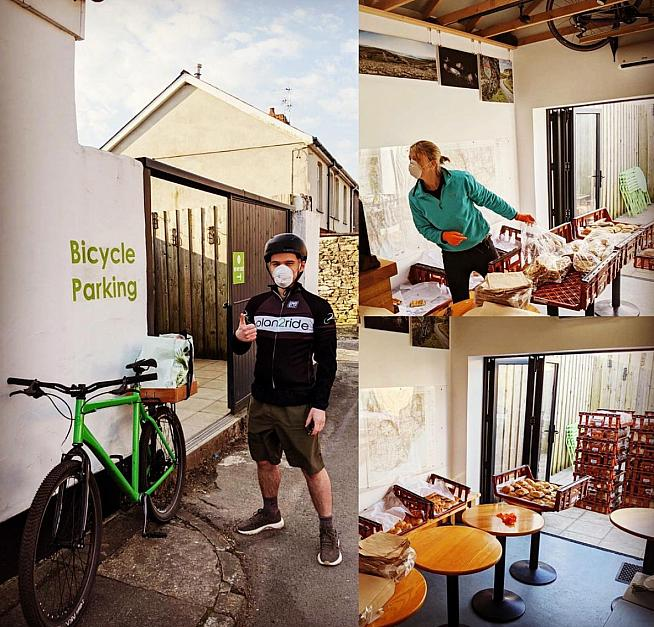 Plan2ride is well located for mountain bikers - and offers bakery deliveries.