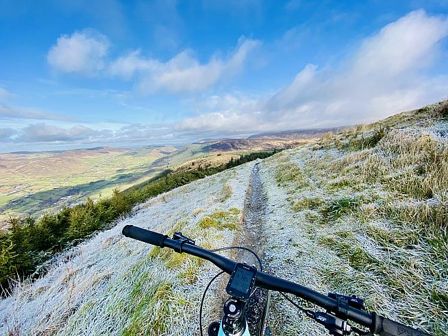 Riding off-road is a great way to build fitness - especially when roads may be icy.