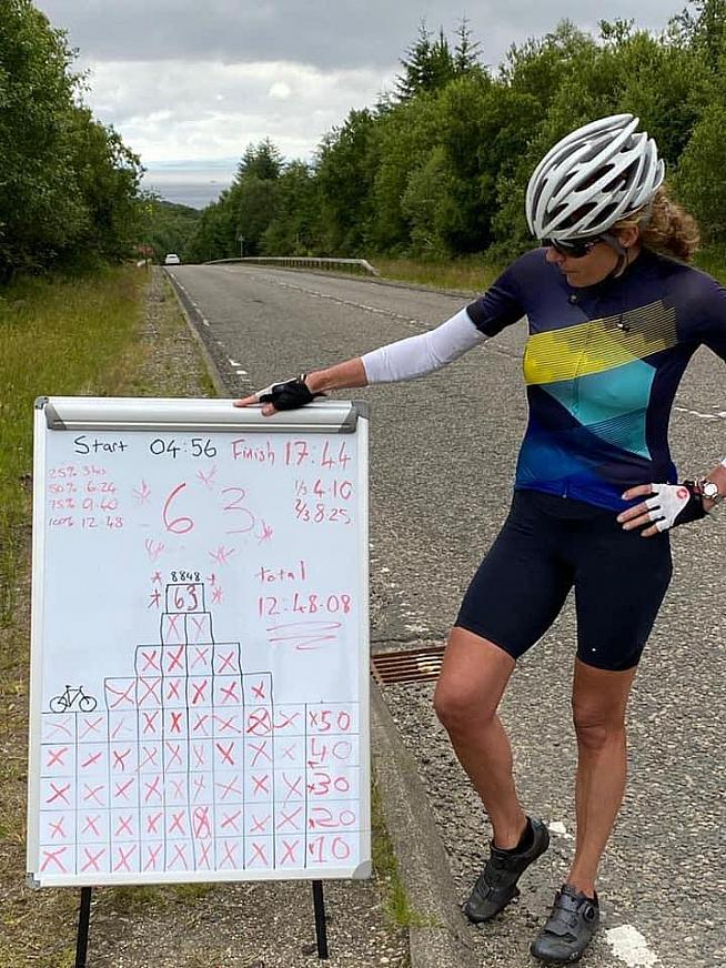 Fiona broke the Scottish women's record by over 6 hours - and took 1h 50 off the men's record too.