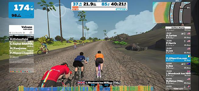 Zwift is a great way to rack up km in the relative comfort of home.