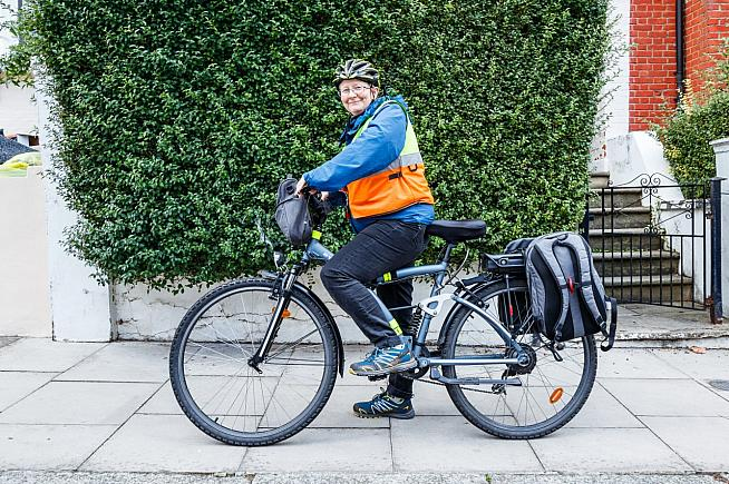 Dr Finella Craig cycles 120 miles a month to deliver palliative care. Photo: Michael Heath