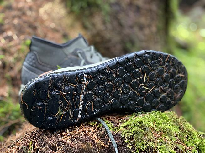 The Stealth Phantom Dotty outsole ensures spec-tacky-ular grip with pedals.