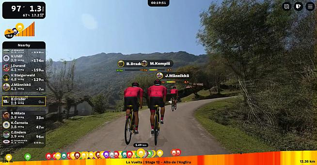 Wattbike users now have easy access to ROUVY's range of virtual courses.