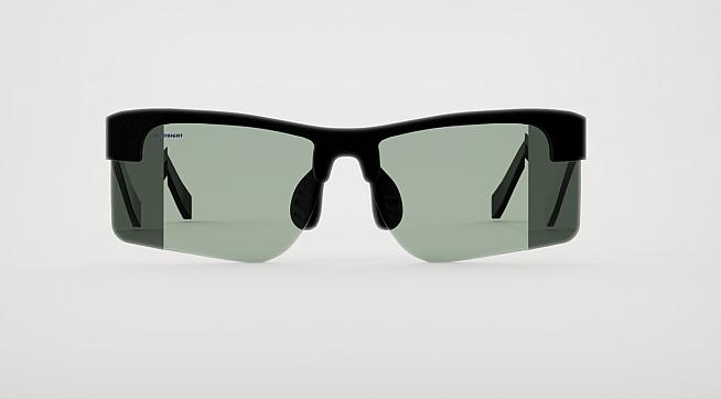 The new HindSight glasses feature mirrored edges allowing cyclists to see what's behind them.